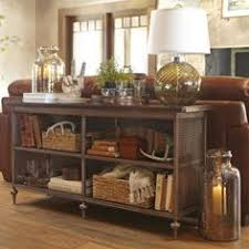 Decor For Coffee Table Wire Baskets Beautiful Wood Console And Classic Styling With