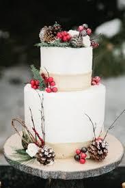 christmas wedding cakes 3 a christmas woodland wedding shoot свадьба