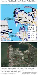 Virginia Flood Map by On The Front Lines Of Rising Seas Naval Station Norfolk Virginia
