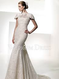 wedding dress jacket mermaid trumpet square sleeveless chapel lace jacket floral