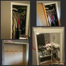 Closet Door Opening I Widened My Closet Opening And Added Mirrored Closet Doors The