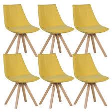 chaises jaunes fjord lot de 6 chaises jaunes achat vente chaise jaune