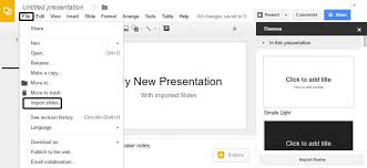 how to convert powerpoint to slides presentations on import