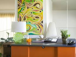 nice looking colorful office design schemes with artistic