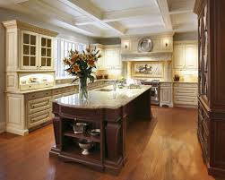 ornate deep brown kitchen island for victorian kitchen design with
