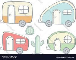 Retro Campers by Retro Campers Royalty Free Vector Image Vectorstock