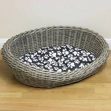 Shabby Chic Dog Bed by Wicker Cat Beds Ebay