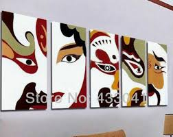 Bedroom Wall Art Sets Hand Painted 5 Piece Wall Art Sets Modern Abstract Guitar Sheet