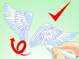 how to draw angel wings 14 steps with pictures wikihow