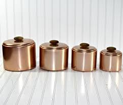 copper canisters kitchen copper canister set so adorable kitchen tools