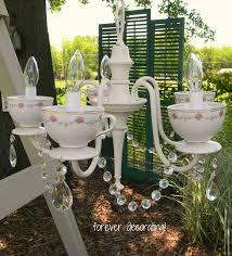 Tea Cup Chandelier Remodelaholic 25 Gorgeous Diy Chandeliers
