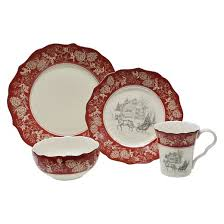 222 fifth andover 16pc dinnerware set white target