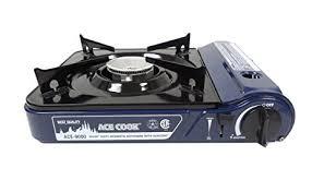 portable table top butane stove amazon com ace 9000 premium portable butane stove black top and