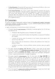 convocazione consiglio dei ministri il governo diritto costituzionale bin pitruzzella docsity