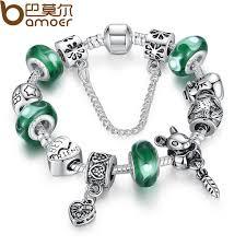 bracelet charm beads silver images 925 silver green bead animal best friend charm bead fit pandora jpg