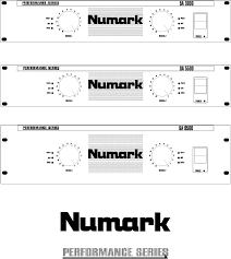 numark industries stereo amplifier sa3000 user guide