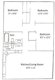 three bedroom floor plans basham rentals 235 s salisbury st 3 bedroom floor plan