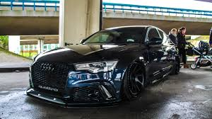 audi rs6 horsepower bagged audi rs6 sedan loud sound