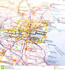Massachusetts travel map stock photo image 42373964