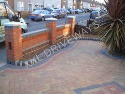 unique brick garden wall designs front garden brick wall designs