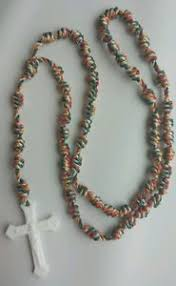 rosary twine handmade knotted cord rosary twine plastic crucifix our of