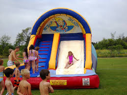 outdoor water slide bounce with party inflatables and commercial