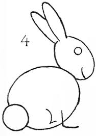 coloring gorgeous rabbit drawing easy bunny clipart 2