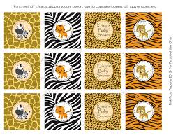 safari cake toppers baby shower cupcake labels baby shower diy