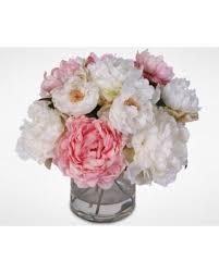 silk peonies tis the season for savings on silk peonies bouquet in glass