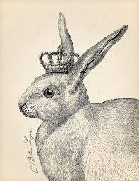 vintage rabbit instant vintage rabbit with crown printable