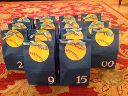 where to buy goodie bags softball gifts diy softball treats for the team contains him