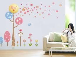 flower tree night wall sticker night light girls room wall decals