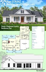 front to back split level house plans plan 51761hz classic 3 bed country farmhouse plan architectural