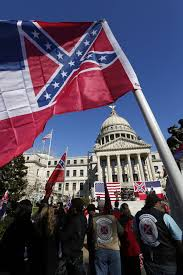 Us Confederate Flag Rally Calls For Keeping Confederate Emblem On Mississippi State