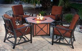 top patio furniture fire pit with outdoor furniture fire pit table