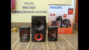 best home theater speakers philips mms6060f thunder 2 1 home speaker 60w usb fm aux unbox