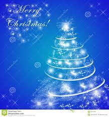 blue merry christmas greeting card christmas tree stock