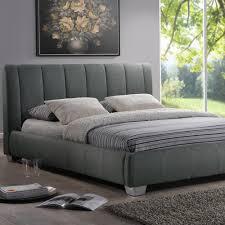 Baxton Studio Bed Baxton Studio Marzenia Gray Queen Upholstered Bed 28862 5424 Hd