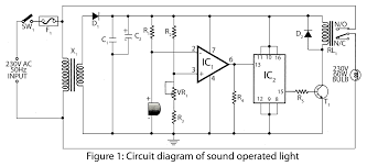clap to turn off lights sound operated light electronics project