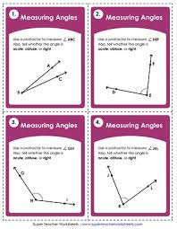 angle measurement worksheets
