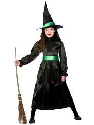 child wizard of oz costume wicked witch hat girls halloween fancy dress kids wizard of oz