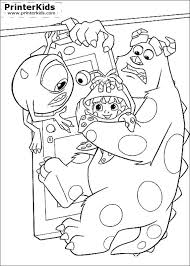 monsters coloring pages sulley boo bedtime coloring