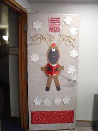 Xmas Office Decorations Door Decorations Decoration Projects For Teachers Decorating