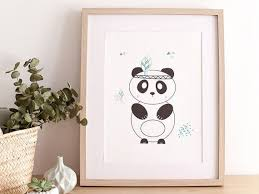 chambre bébé panda affiche pour enfants indian panda idéal chambre