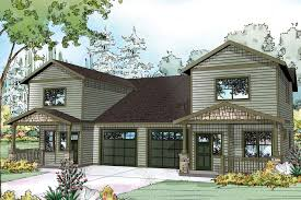 basic duplex floor plans house with garage in the middle disguised