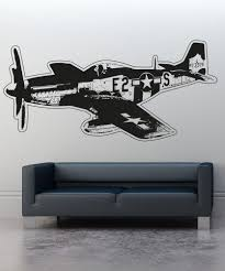 military wall decal designs vinyl wall decal sticker vintage aircraft os aa705
