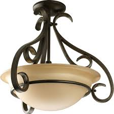 flush mount lantern light progress lighting torino collection 3 light brushed nickel semi