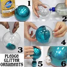 so easy 6 step pledge glitter ornaments ornament glitter