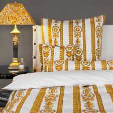 gold black red comforter set epier versace medusa satin red