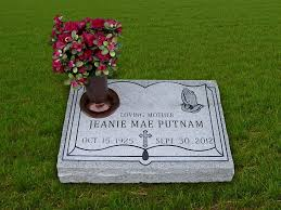 Flat Headstones With Vase Grassmarkers Memorials Headstone Grass Marker Monuments